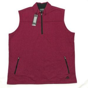Adidas Men`s Climawarm 1/4 Zip Golf Vest Size XL